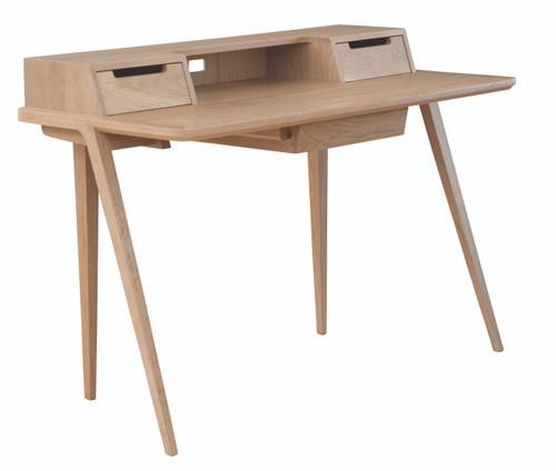 Ercol Treviso Desk - Oak - Front Angle View