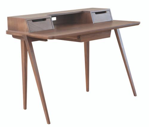 Ercol Treviso Desk - Walnut - Front Angle View