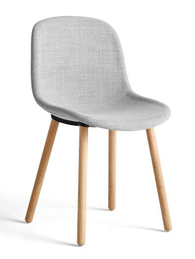 HAY Neu 12 Chair Upholstered - Remix 0123, Matt Lacquered Solid Oak
