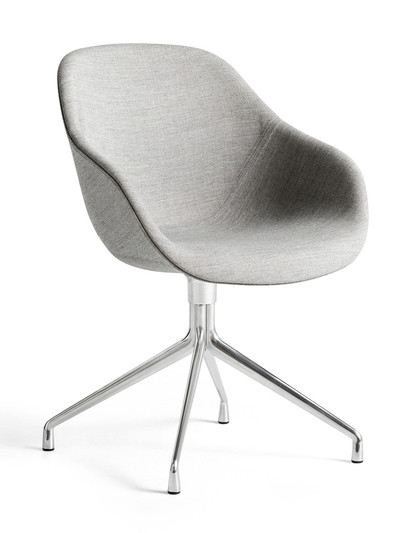 HAY About A Chair AAC 121 - Kvadrat Remix 0123 - Polished Aluminium Base