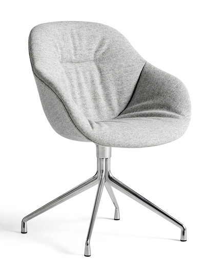 HAY About A Chair AAC 121 - Kvadrat Hallingdal 116 - Polished Aluminium Base