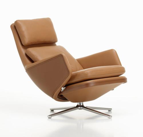 Vitra Grand Relax Lounge Chair Cognac