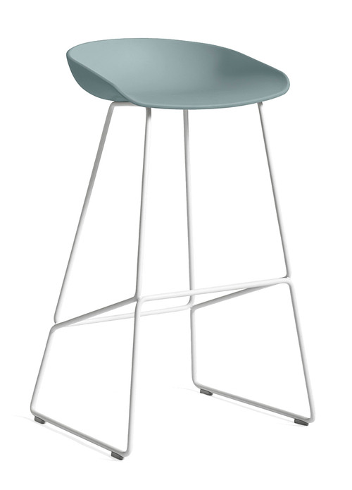 CLEARANCE HAY About A Stool AAS 38 - High / Dusty Blue / White