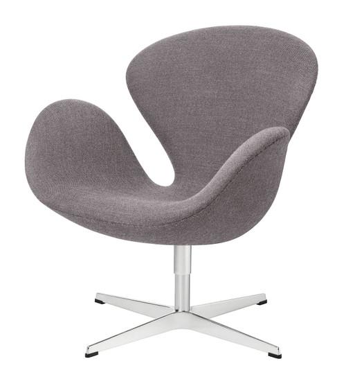 Fritz Hansen Swan Chair - Capture 4601 Dark Grey Fabric