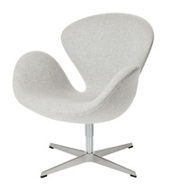 Fritz Hansen Swan Chair - Kvadrat Divina Melange 120 Light Grey Fabric