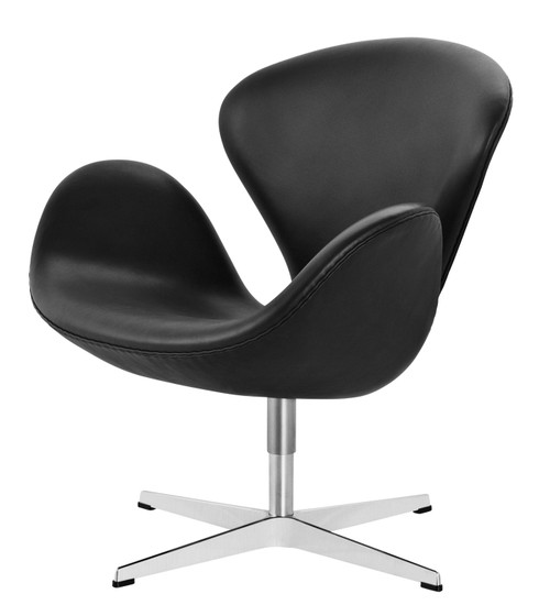Fritz Hansen Swan Chair - Grace Leather Black