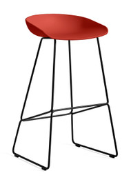 CLEARANCE HAY About A Stool AAS 38 - High / Warm Red / Black