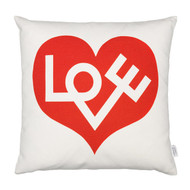 Vitra Graphic Print Pillow - Love Heart, Crimson