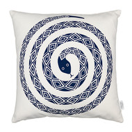 Vitra Graphic Print Pillow - Snake, Ultramarine