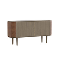 Umage Treasures Cabinet - 3 Door - Dark Oak / Faux Leather