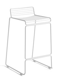 HAY Hee Outdoor Bar Stool Low - White