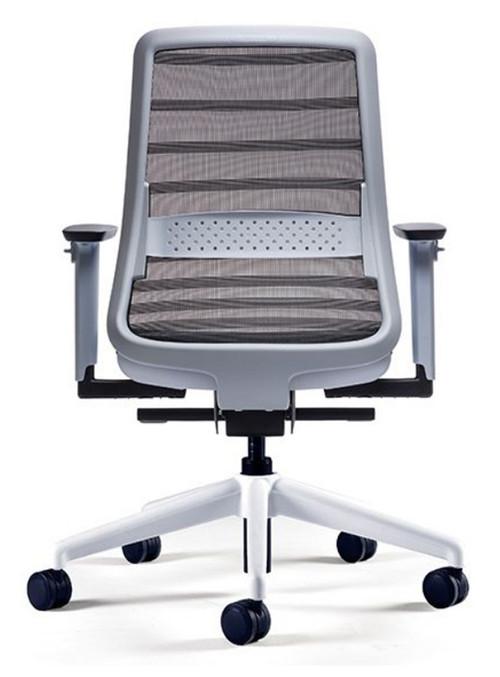 QUICK SHIP Koplus Tonique Task Chair - White - Rear