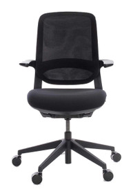 QUICK SHIP Techo Flight Task Chair - Black - Front