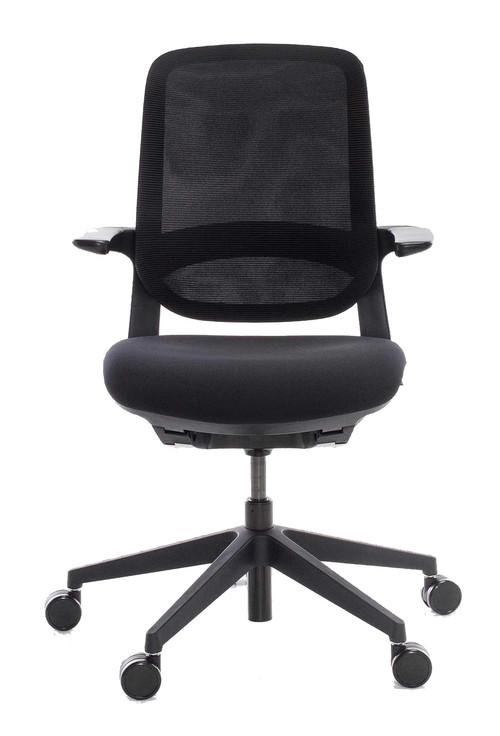 QUICK SHIP Techo Flight Task Chair - Black - Front