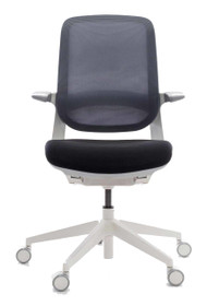 QUICK SHIP Techo Flight Task Chair - White - Front