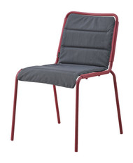 Cane-Line Copenhagen Outdoor Chair - Marsala With Seat Pad in Grey