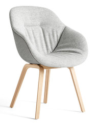 HAY About A Chair AAC 123 Soft Duo - Front Hallingdal 116 - Back Remix 133 - Matt Lacquered Oak