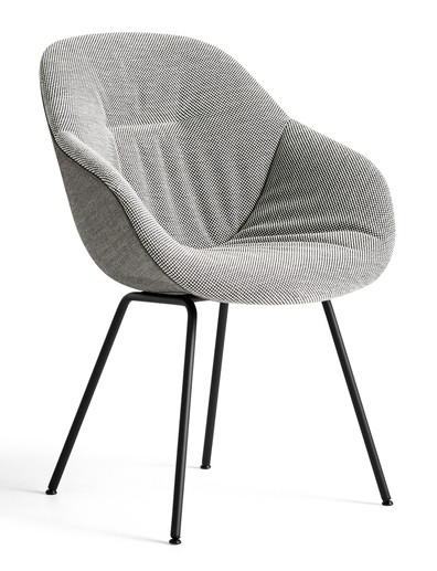HAY About A Chair AAC 127 Soft Duo - Front Dot 1682 - Back Remix 152 - Powder-Coated Black
