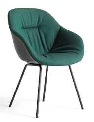 HAY About A Chair AAC 127 Soft Duo - Front Olavi By HAY 16 - Back Silk SIL0842 - Powder-Coated Black