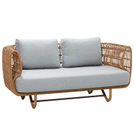 Cane-Line Nest 2 Seater Sofa - Natte Light Grey - Outdoor - Front Angle View