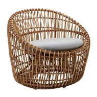 Cane-Line Nest Round Chair - Outdoor - Front Angle