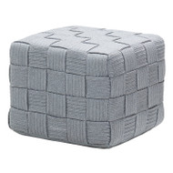 Cane-Line Cube Outdoor Footstool Light Grey