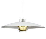 Artek JL341 Pendant Lamp - White/Brass - by Juha Leiviska