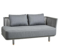 Cane-Line Moments 2 Seater Sofa, Left Module  - Outdoor