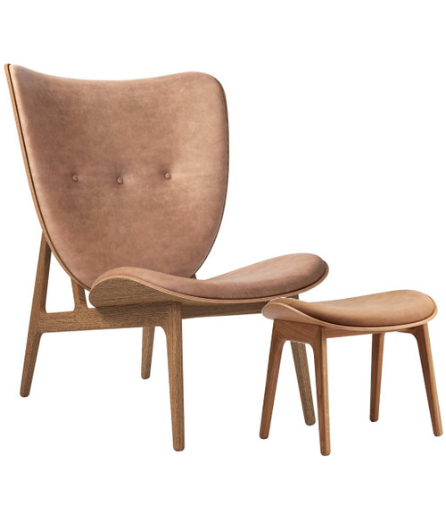 Norr11 Elephant Chair & Stool - Vintage Leather