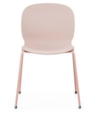 RBM Noor 6050 Chair from Flokk - Rose Shell - Rose Base - Front View