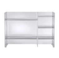 CLEARANCE Kartell Sound-Rack Storage - Crystal - Front View