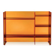 CLEARANCE Kartell Sound-Rack Storage - Amber - Front View