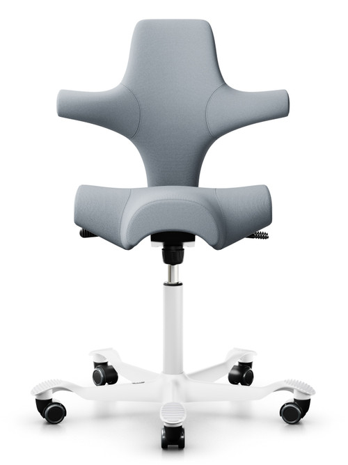 QUICK SHIP HÅG Capisco 8106 Task Chair - Select Grey - Front View