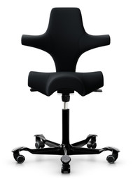 QUICK SHIP HÅG Capisco 8106 Task Chair - Select Black - Front View