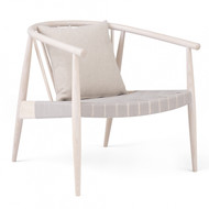 L.Ercolani Reprise Lounge Chair - Ash - Webbed Seat - Front Angle