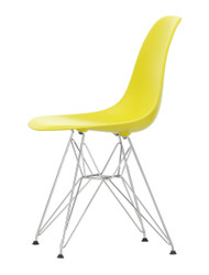 Vitra Eames Plastic Side Chair DSR - 26 Sunlight - Chrome - Front