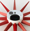 Vitra Sunburst Clock by George Nelson - Red Closeup