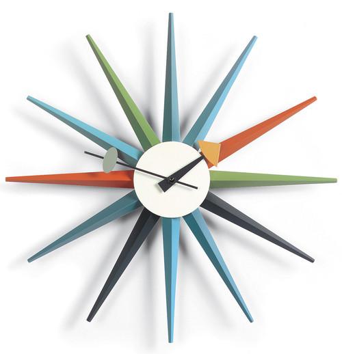 Vitra Sunburst Clock by George Nelson - Multicoloured