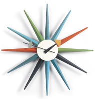 Vitra Sunburst Clock by George Nelson - Multicoloured