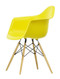 Vitra Eames Plastic Armchair DAW - 26 Sunlight - Golden Maple - Front Angle