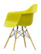 Vitra Eames Plastic Armchair DAW - 34 Mustard - Golden Maple - Front Angle