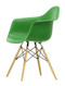 Vitra Eames Plastic Armchair DAW - 42 Green - Golden Maple - Front Angle
