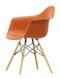 Vitra Eames Plastic Armchair DAW - 43 Rusty Orange - Golden Maple - Front Angle