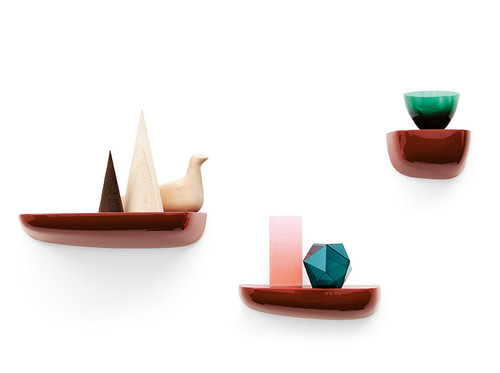 Vitra Corniches Wall Shelves Small Medium & Large - Japanese Red