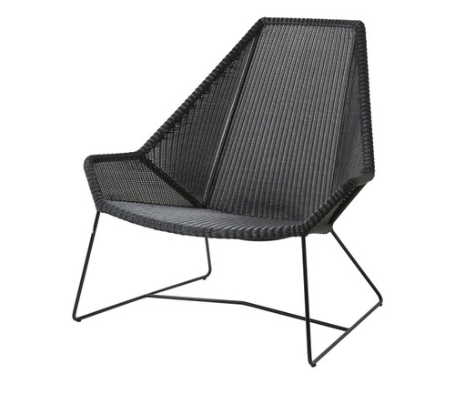 Cane-Line Breeze High Back Outdoor Lounge Chair - Black