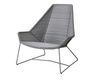 Cane-Line Breeze High Back Outdoor Lounge Chair - Light Grey