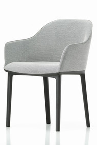 Vitra Softshell Chair 4 Legged - Light Grey - Basic Dark Base