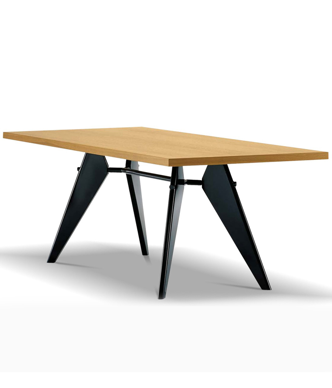 vitra em table by jean prouve. Black Bedroom Furniture Sets. Home Design Ideas
