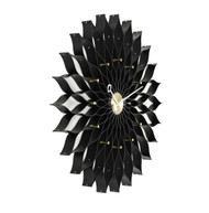 Vitra Sunflower Clock - Black Ash/Brass