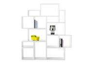 Muuto Stacked Shelving System white setup